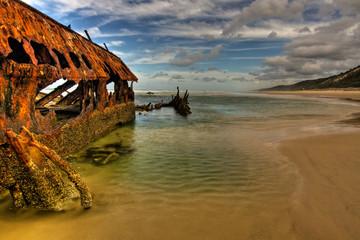 Shipwreck on Fraser Island (HDR image)