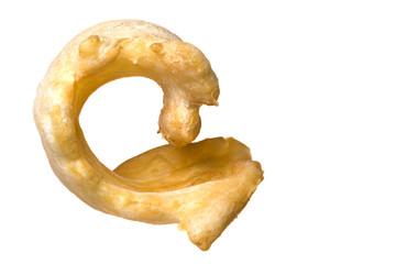 Dried Fish Maw (Gas Bladder) Isolated