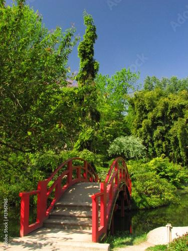 Foto op Canvas Klaprozen Jardin Japonais