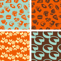 seamless patterns - alimentation