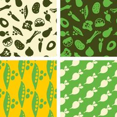 seamless patterns - légumes