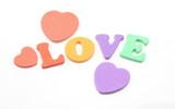 Foam Letters Spell Love poster