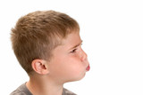 Boy  Puffing Cheeks to Blow poster