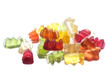 Gummy Bears Macro Isolated