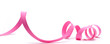Leinwanddruck Bild - image d'un ruban de cadeau rose détouré sur fond blanc