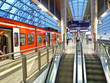 Leinwanddruck Bild - Bahnhof