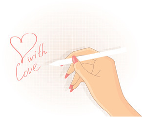Hand writing, vector