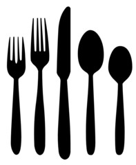 Forks, knife and spoons