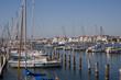 Blick auf Travemünde vom Passat-Hafen