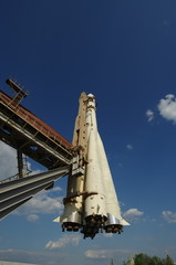 Monument of space rocket Vostok-1 (Moscow, Russia)