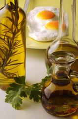 Olio d oliva con uova all occhio di bue