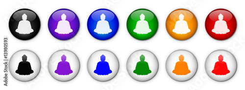 """Buddha"" buttons (x12 - various colours)"
