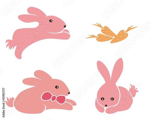 中秋手绘插画兔子