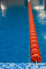 red Swimming Lane Marker in swimming pool