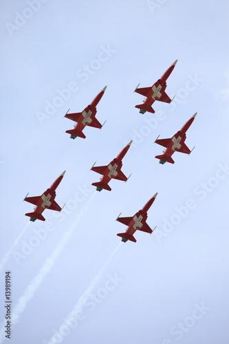 Leinwanddruck Bild Flugshow - Flight show