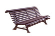 Bench isolated with clipping path