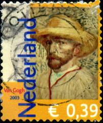Nederland, Van Gogh. Timbre postal oblitéré.