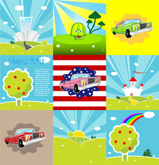 Set of 9 vector backgrounds.