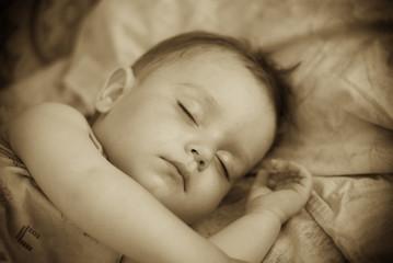 Breast child sleeps