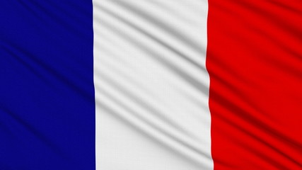 French flag, with real structure of a fabric