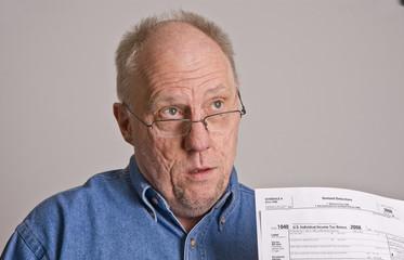 Older Man Asking About Tax Returns
