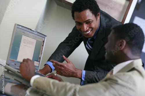 African business men  working - 14003995