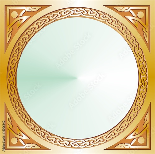 Celtic circle mirror