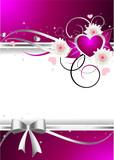 Fototapety Pink Invitation Card