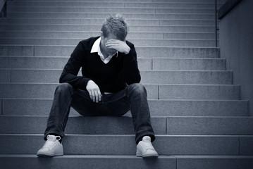 Depressed on the Steps