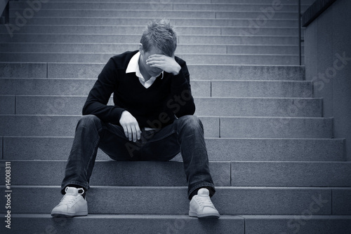 Depressed on the Steps