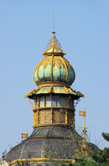 Prag Turmspitze im Park - Prague top of tower in park 02