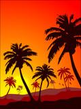 Idyllic summer scene poster