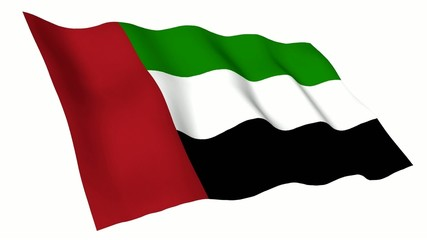 United Arab Emirates Animated Flag