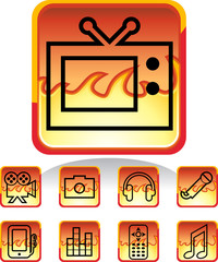 Media Fire Icons