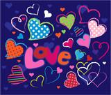 Cute Love doodles poster