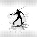 Thrower spears. Vector. poster