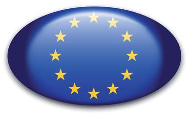 Button Europäische Union Fahne oval