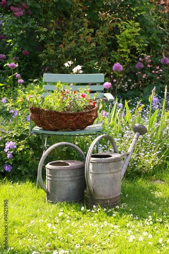 In de dag Tuin Still life in a german garden, please take a rest