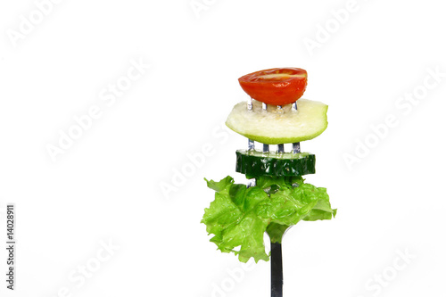 Salad on a fork