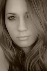 girl face hair