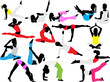 yoga and pilates vector