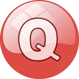 red Q window button