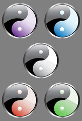Yin Yang Stickers