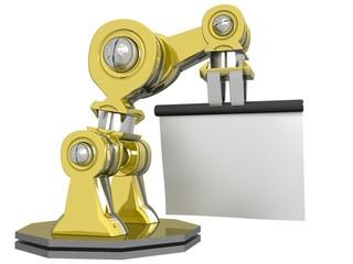Robot con Cartello 3D