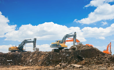 Working excavators