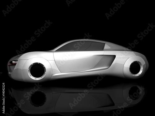Foto op Canvas Snelle auto s auto isolated
