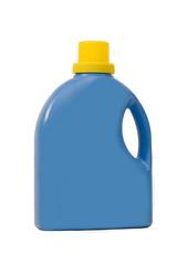 Blue plastic bottle isolated