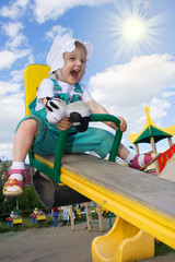 pretty happy baby rock on swing