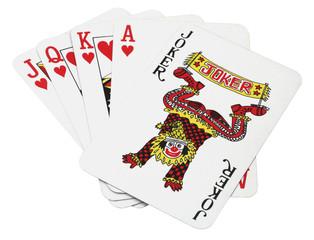 Lucky set of cards, Joker royal flush