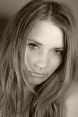 close up girl face skin